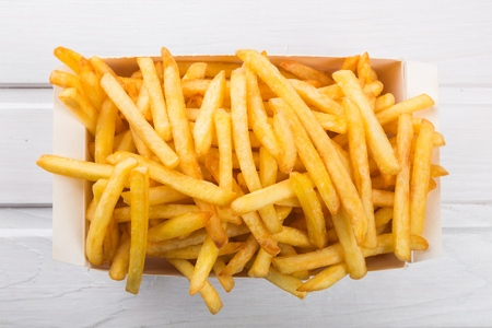 unhealthy living: French Fries.