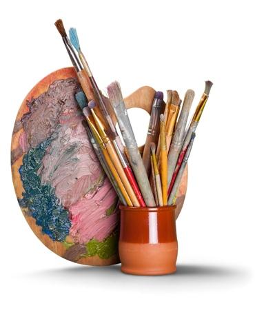 brocha de pintura: Equipo de arte y artesanía.