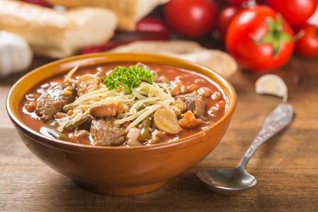 beans soup: Soup. Stock Photo