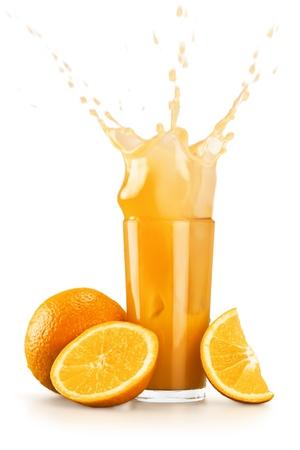 splashing: Orange Juice.