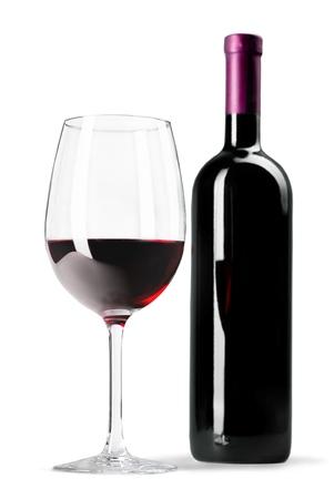 isolated objects: Wine Bottle. Stock Photo