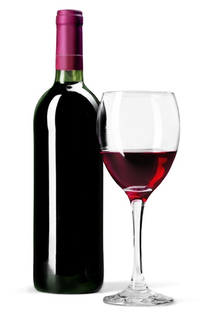 와인 병.