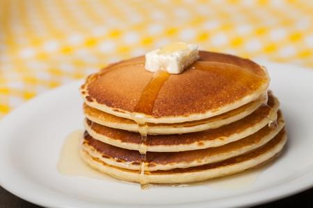 petit dejeuner: Pancake. Banque d'images