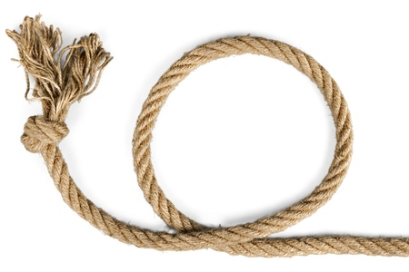 west: Rope. Stock Photo