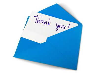 note card: Thank You. Stock Photo