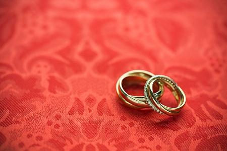 anillos de matrimonio: Anillo de bodas. Foto de archivo
