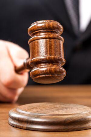 courtroom: Judge. Stock Photo