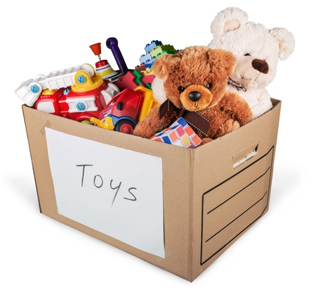 donating: Toy. Stock Photo