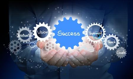 path to success: Success. Stock Photo