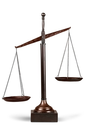 weight scale: Scales of Justice. Stock Photo