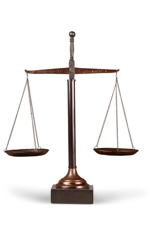 scales of justice: Scales of Justice. Stock Photo