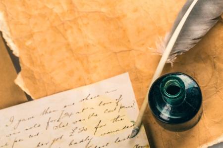 paper pen: Old.