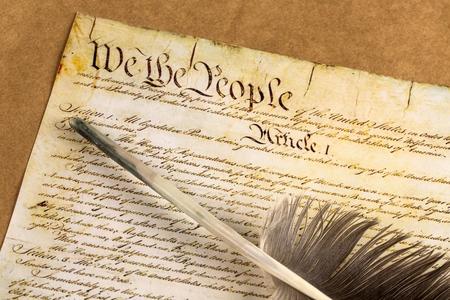Constitution des États-Unis. Banque d'images - 48355911