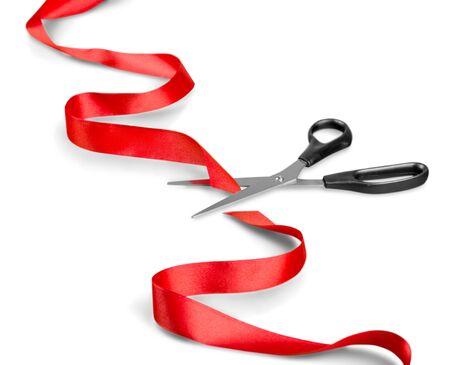cutting: Ribbon Cutting. Stock Photo