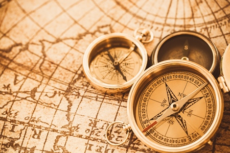 physical geography: Compass.