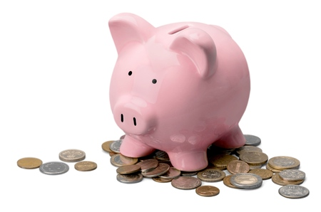canadian coin: Piggy. Stock Photo
