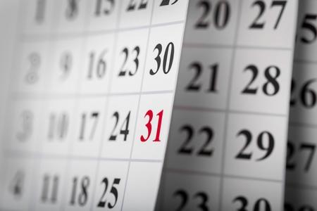Calendar. Foto de archivo