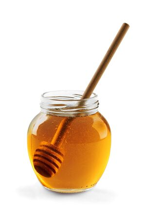 honey jar: Honey.