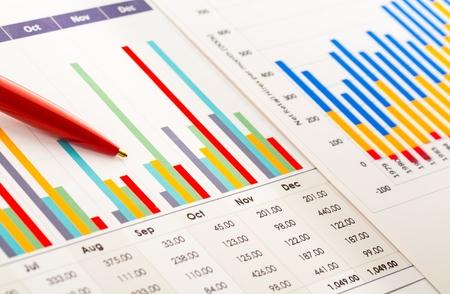 height chart: Chart. Stock Photo