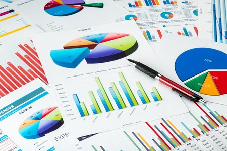 charts: Chart. Stock Photo