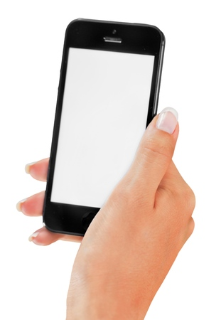 female hand: smartphone