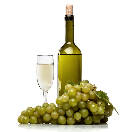 bottle wine: Wine. Stock Photo