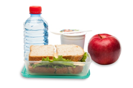 eating lunch: Lunch Box. Stock Photo