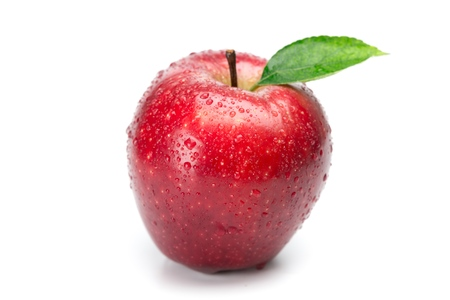 red and white: Apple. Stock Photo