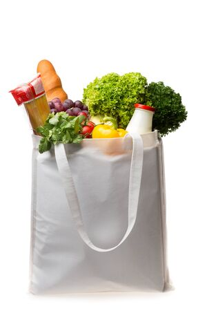 grocery bag: Groceries.