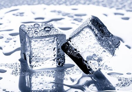 refrigerate: Ice Cube. Stock Photo