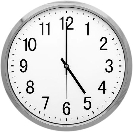 visage: Horloge. Banque d'images