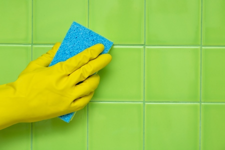 scrubbing up: Cleaning. Stock Photo