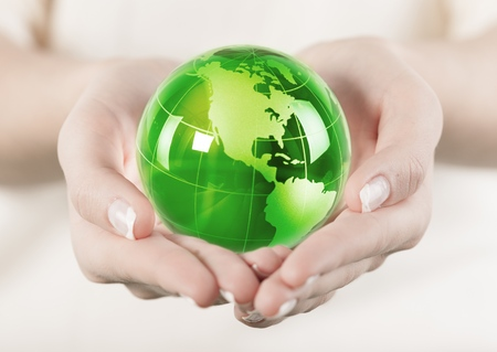 human hands: Globe. Stock Photo