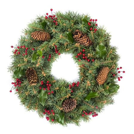 christmas berries: Wreath. Stock Photo
