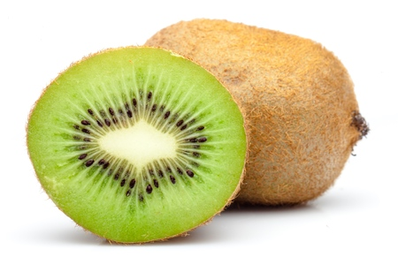 comiendo frutas: Kiwi. Foto de archivo