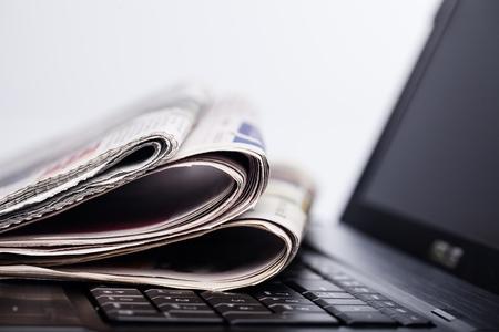 newspaper stack: Newspaper. Stock Photo