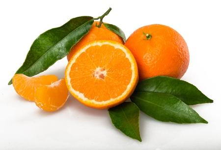 mandarin orange: Orange. Stock Photo