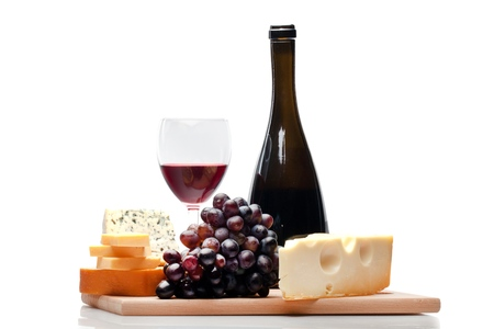 queso fresco blanco: Vino.  Foto de archivo
