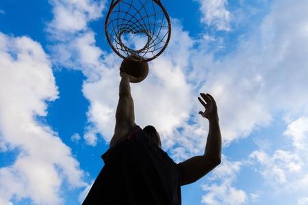 basketball shot: Basketball. Stock Photo