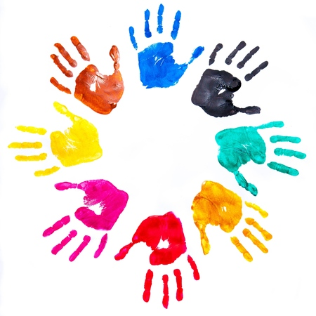 equal opportunity: Handprint.
