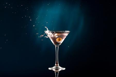 martini glass: Martini. Stock Photo