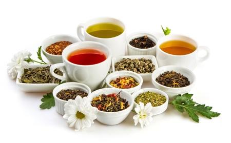chinese tea cup: Tea.
