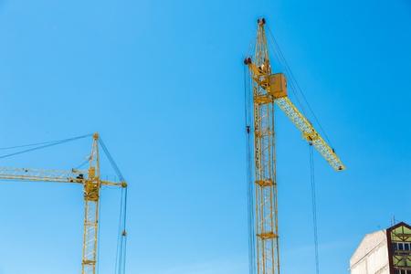 figuring: Crane. Stock Photo