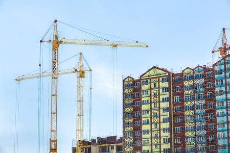 crane: Site. Stock Photo