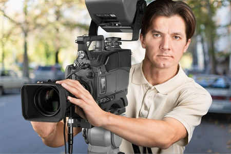 film crew: Film Crew. Stock Photo