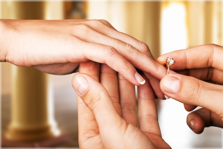 engagement ring: Ring. Stock Photo