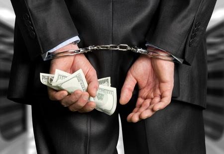 crime: White Collar Crime. Stock Photo