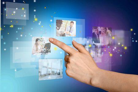 playback: Video. Stock Photo