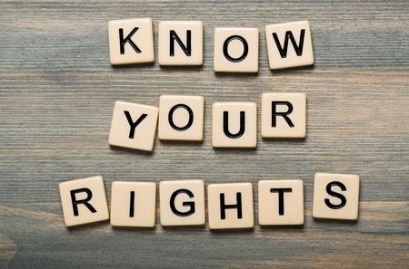 Conozca sus derechos. Foto de archivo