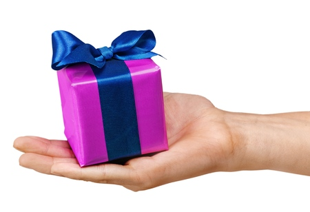 birthday present: Gift. Stock Photo